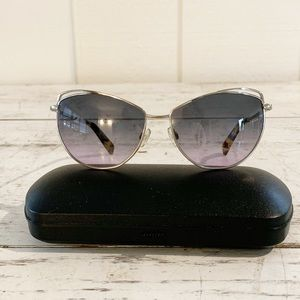 Warby Parker Marple Silver Frame Gray Sunglasses